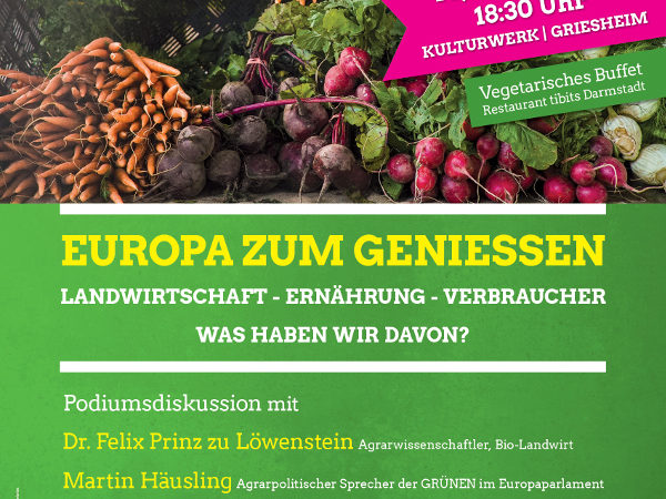Plakat zur Veranstaltung am 10. Mai um 18:30 Uhr in Griesheim
