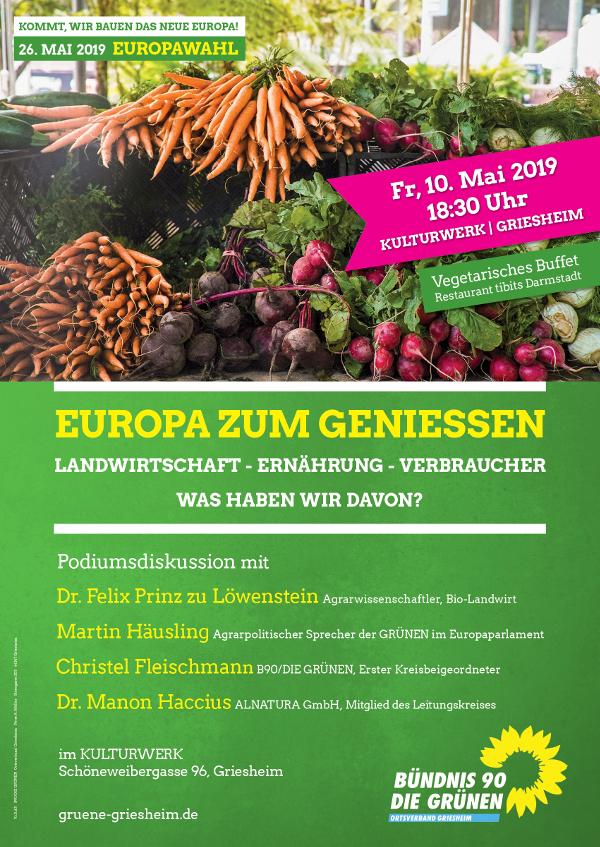 Veranstaltung EUROPA ZUM GENIESSEN