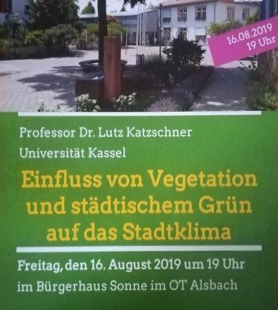 Plakat Veranstaltung am 16. August 2019