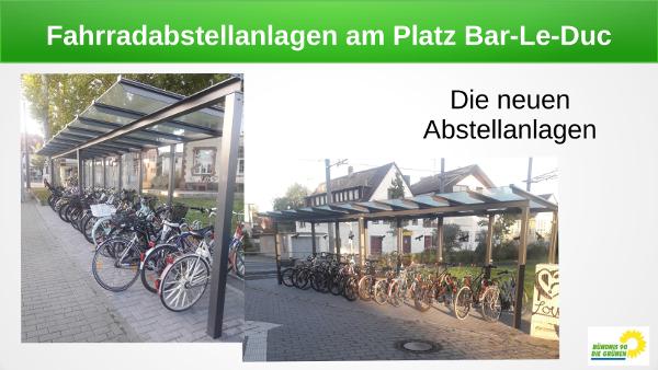 Neue Fahrradabstellanlagen am Platz Bar-le-Duc werden gut angenommen