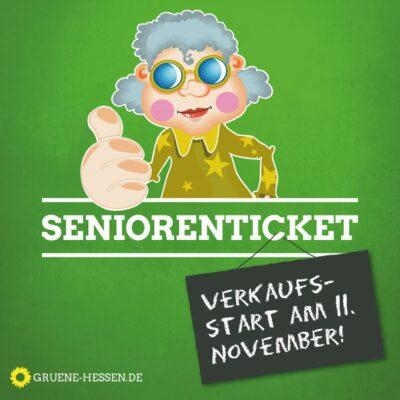 Ab 11.11.2019 Verkaufsstart für das Seniorenticket ab 01.01.2020