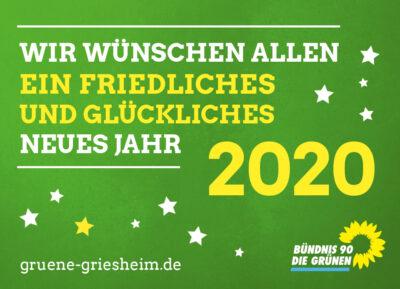 Wir wünschen allen ein friedliches und glückliches neues Jahr 2020