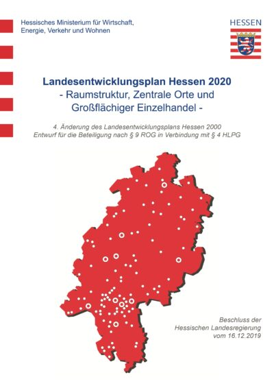 Deckblatt Landesentwicklungsplan 2020 https://landesplanung.hessen.de/