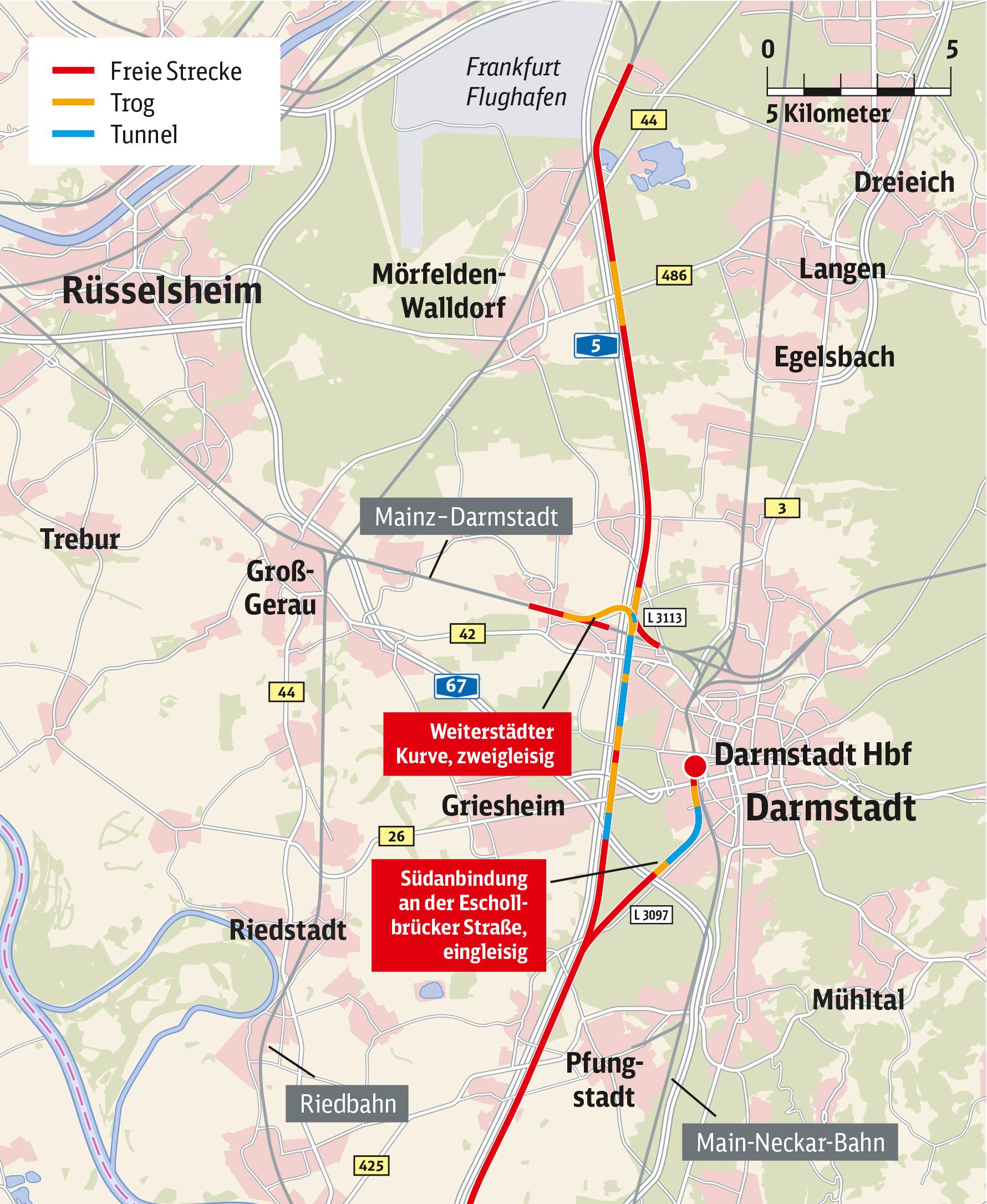ICE-Neubaustreckenführung positiv für die Region, Griesheim und den Stadtwald