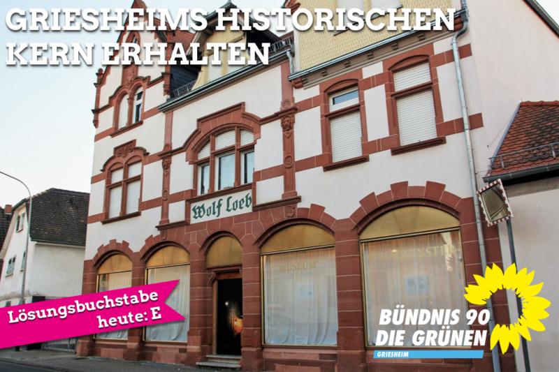 Griesheims historischen Kern erhalten
