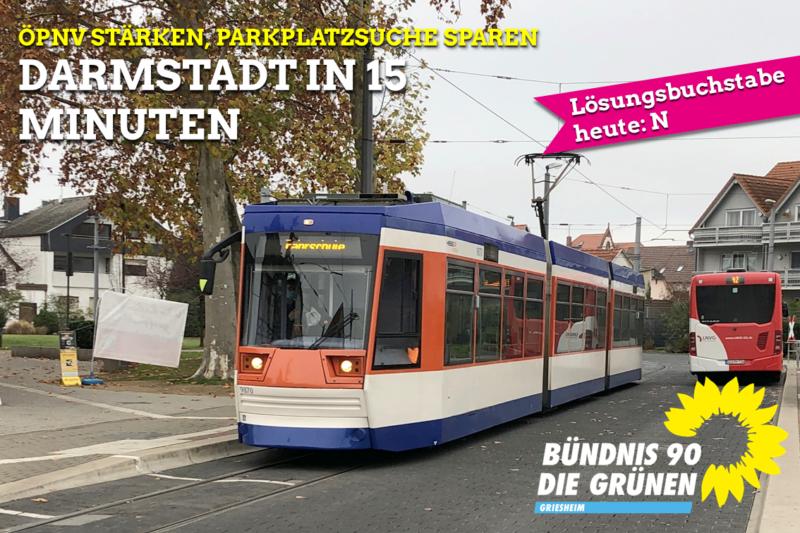 ÖPNV stärken - Darmstadt in 15 Minuten
