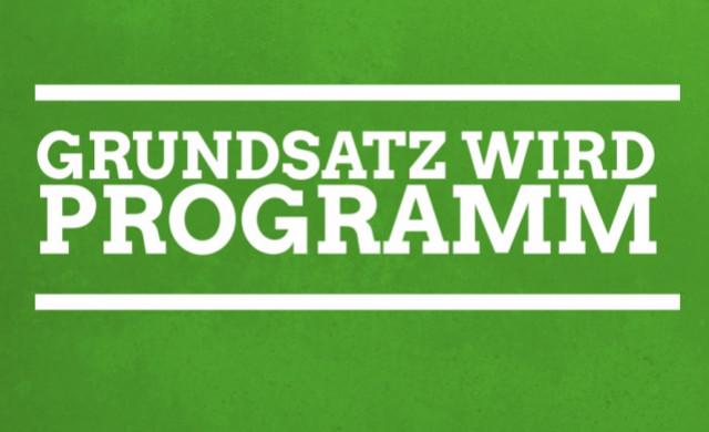 Grundsatz wird Programm