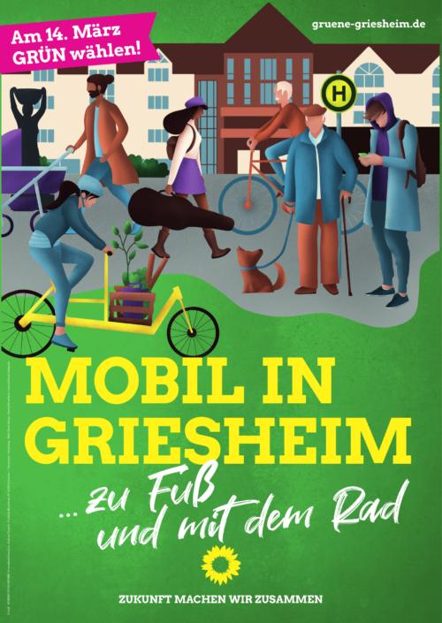 Mobil in Griesheim: Zu Fuss und mit dem Rad