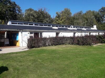 Ein Ausschnitt der Solarthermieanlage des Freibades in Mörfelden-Walldorf