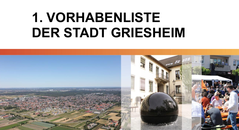 1. Vorhabenliste der Stadt Griesheim - Titelbild