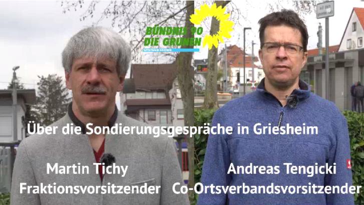 Stellungnahme der Griesheimer GRÜNEN zu Verlautbarungen über den Ausgang der Sondierungsgespräche